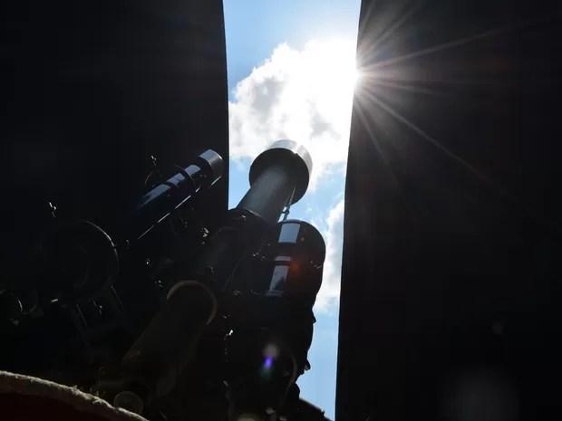 Observatório de Piracicaba Mancha no Sol (Foto: Claudia Assencio/G1)