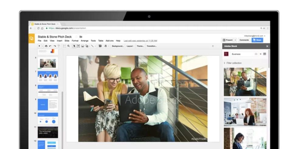 Add-ons permitem adicionar ou editar imagens (Foto: Reprodução/Google)