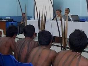 Índios reúnem com consórcio de Belo Monte sobre liberação das obras (Foto: Reprodução/TV Liberal)