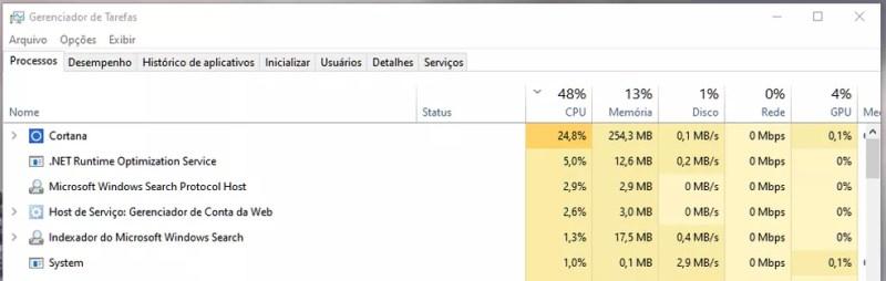 Atualizou lançada no fim de agosto criou problema na Cortana que podia deixar sistema lento. — Foto: Reprodução