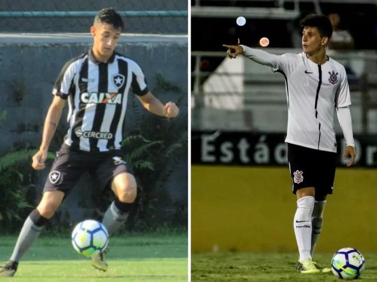 Pedro, do Botafogo, e Rafinha, do Corinthians sub-20 (Foto: Montagem/GloboEsporte.com)