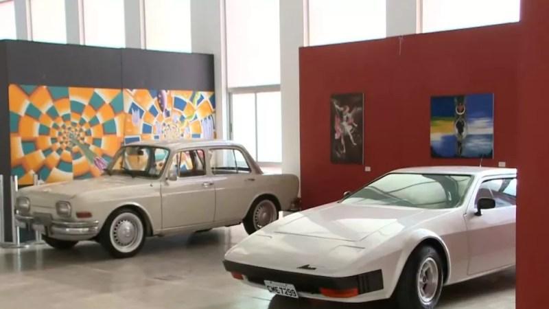 Festival também reúne exposição de carros antigos, em João Pessoa — Foto: Reprodução/TV Cabo Branco