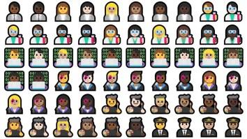 Novas profissões em emojis no Windows 10 Creators Update (Foto: Divulgação/Emojipédia)