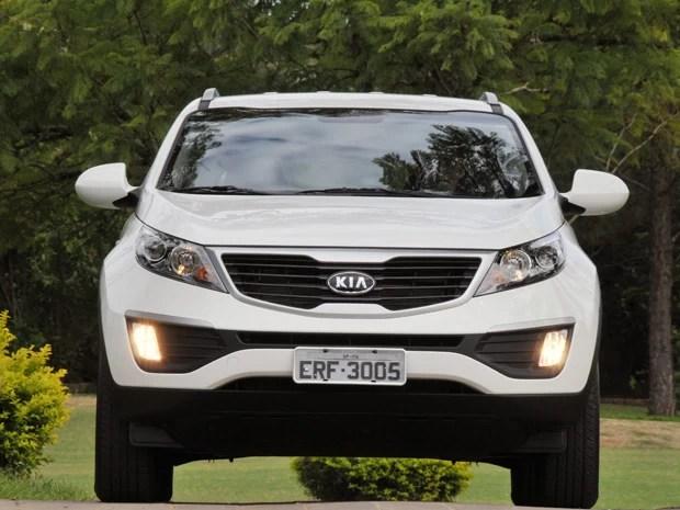 Sportage ganha a nova grade frontal que marca os carros Kia (Foto: Divulgação)