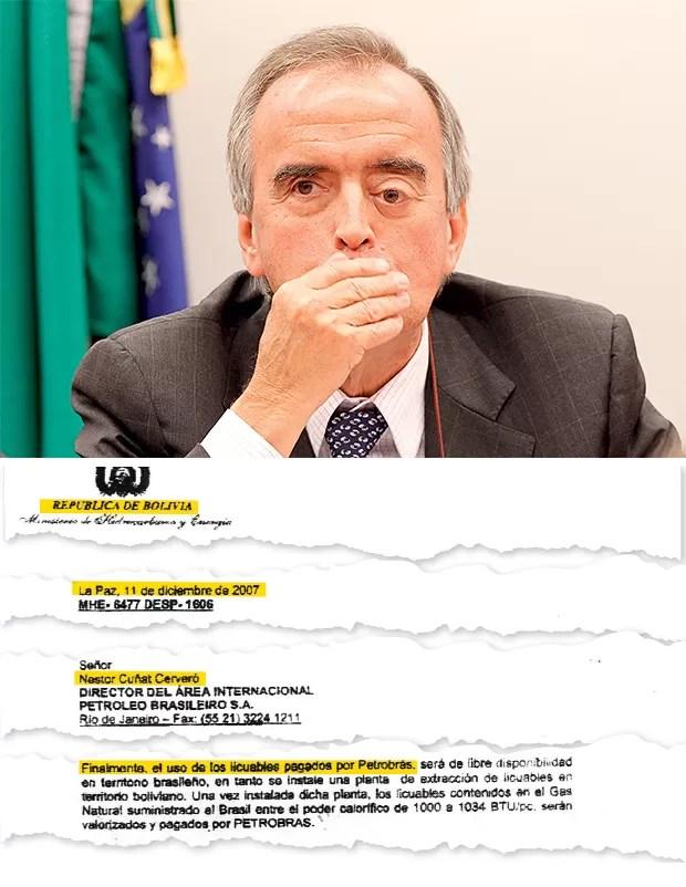 LINHA DIRETA O ex-diretor da Petrobras Nestor Cerveró. Ele negociava diretamente com o ministro Carlos Villegas (como mostra o documento ao lado) (Foto: Alan Marques/Folhapress)