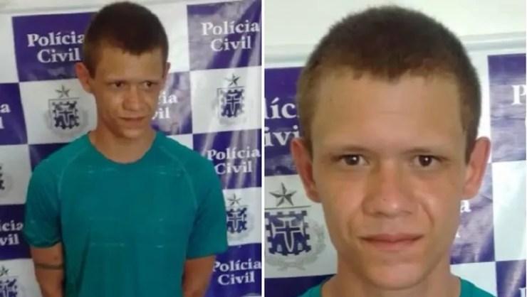 Jovem é preso em flagrante enquanto matava mãe a facadas na BA — Foto: Divulgação