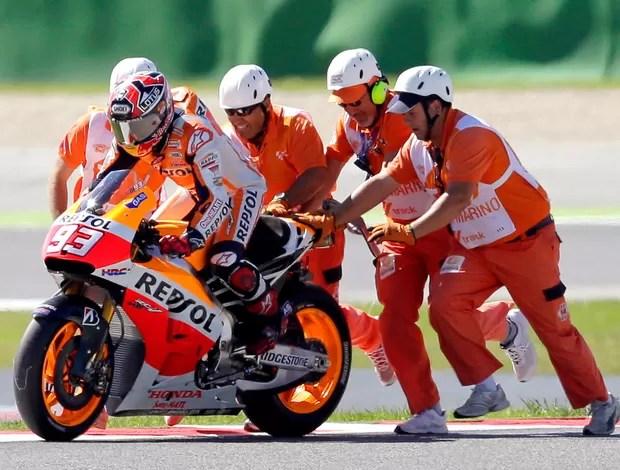 marcmarquez-motogp-reu - Rossi dá aula a Márquez, vence em Misano e é ovacionado por 55 mil fãs