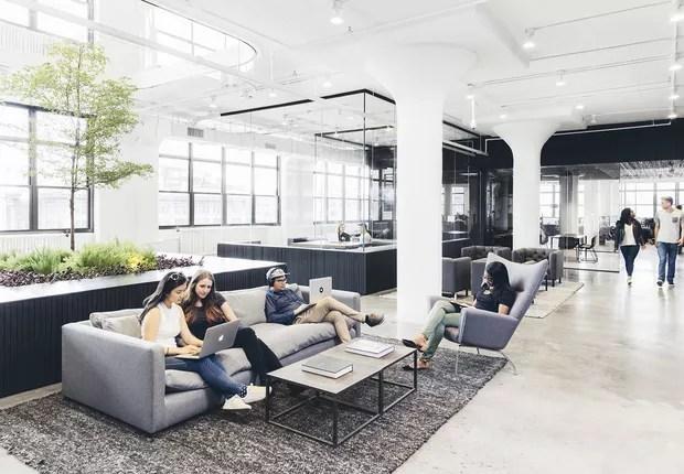 Escritório da empresa Squarespace, em Nova York (Foto: Divulgação)