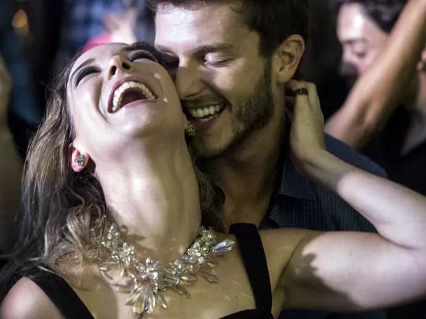 Eles se divertiram muito na balada  (Foto: Inácio Moraes/TV Globo)