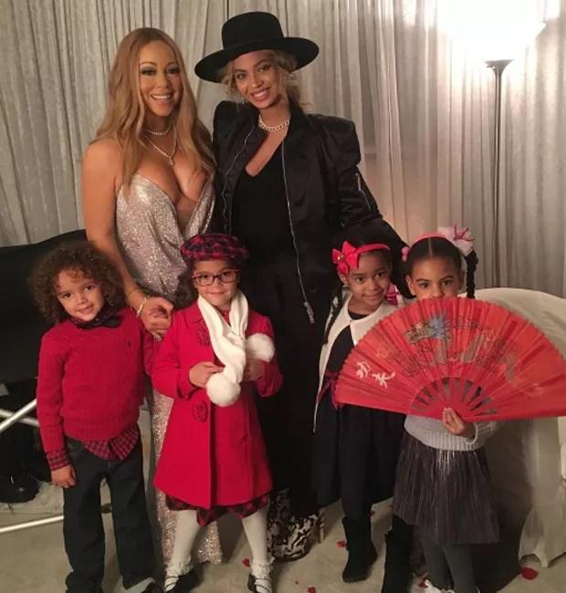 Mariah Carey e Beyoncé se encontram em camarim (Foto: Reprodução/Instagram)