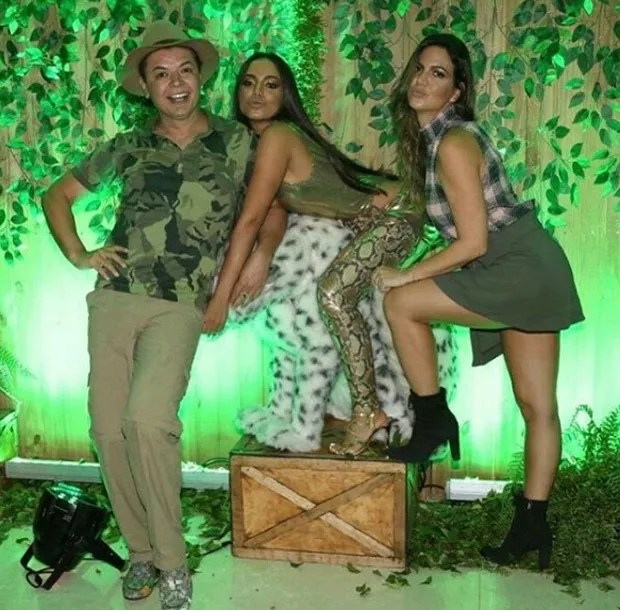 David Brazil, Anitta e Carol Sampaio (Foto: Reprodução/Instagram)