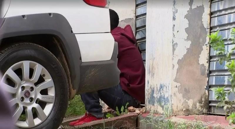 Homem disse que esteve com Vitória Gabrielly dentro de um carro em Mairinque (Foto: Reprodução/TV TEM)