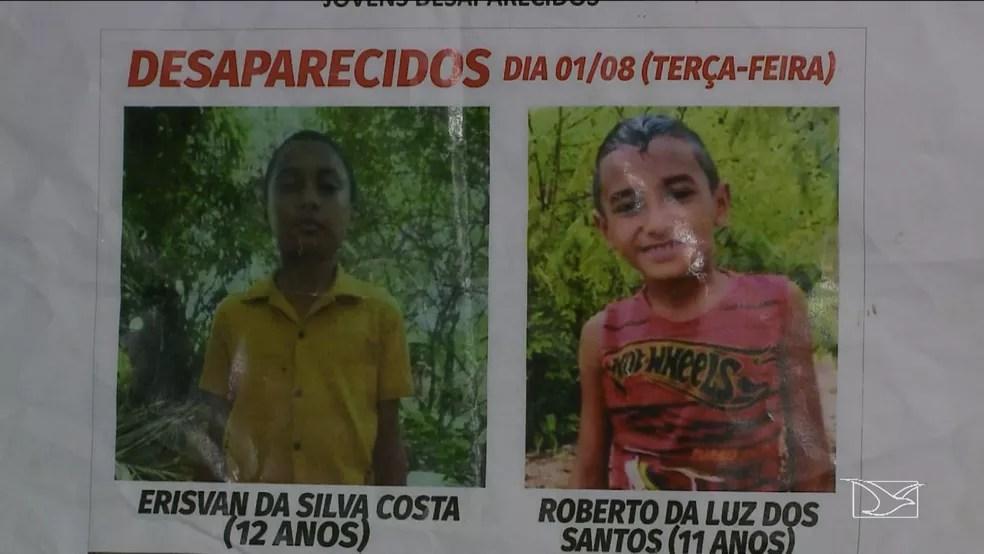 Criança e adolescente foram encontrados em cova rasa no Campo de Peris no Maranhão.  (Foto: Reprodução/TV Mirante)