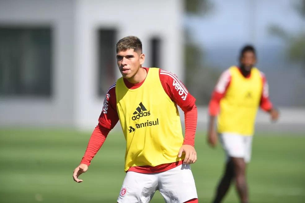 Carlos Palacios atacante Inter — Foto: Ricardo Duarte/Divulgação, Inter
