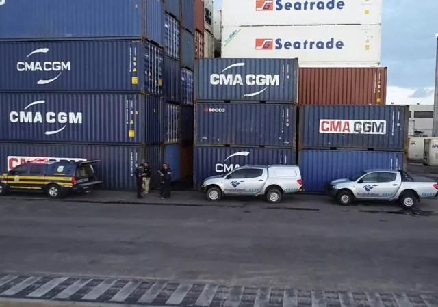 Porto de Natal não possui scanner para auxilar na vistoria dos contêineres  — Foto: Receita Federal