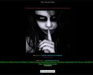 Página que hackers criaram para publicar dados pessoais de celebridades (Foto: Reprodução)