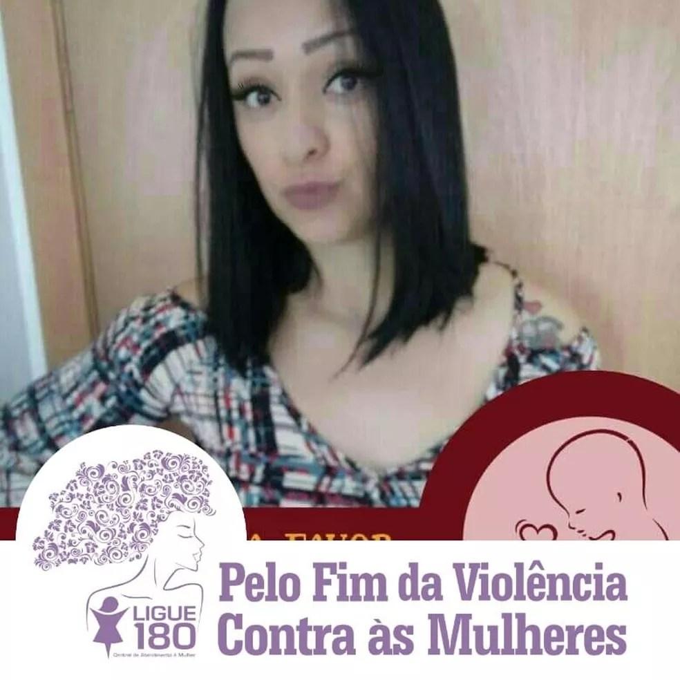 Shirley Rúbia fez postagem em 2018, 'pelo fim da violência contra as mulheres' — Foto: Facebook/Reprodução