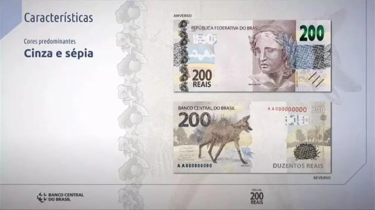 Características da nota de R$ 200