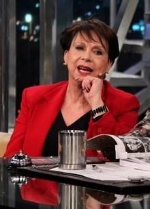 Arllete Montenegro e Flávio Quilici (TV Globo/Programa do Jô)