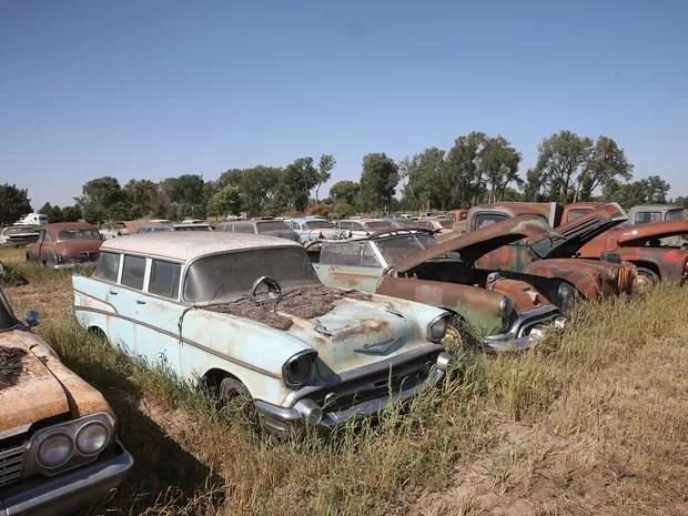 carros enferrujados leilão (Foto: Scott Olson/Getty Images/AFP)