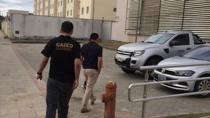 Operação do MPES que prendeu um professor em São Mateus — Foto: Divulgação/MPES