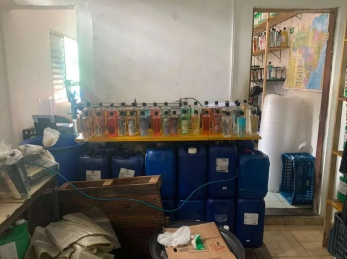 Empresa onde material foi apreendido em São Bernardo do Campo — Foto: Divulgação/Polícia Civil