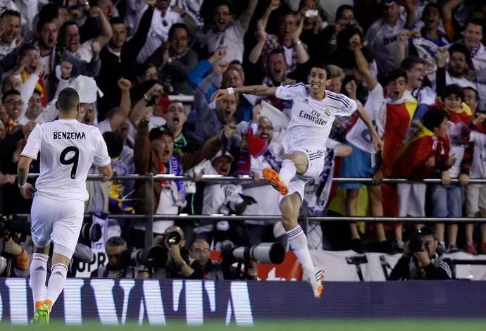 Di Maria Barcelona x Real Madrid - Copa do Rei (Foto: AP)