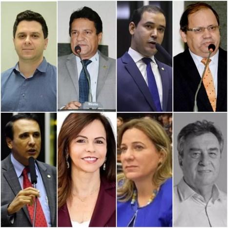 Deputados federais eleitos no Tocantins — Foto: Montagem/G1