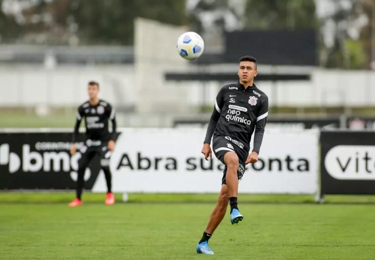 Cantillo em treino do Corinthians — Foto: Rodrigo Coca/Agência Corinthians