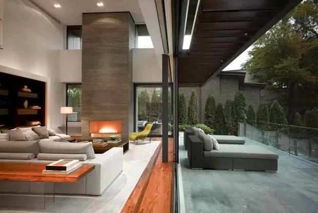 sofa austin tx 3 piece microfiber recliner sectional materiais rústicos na casa urbana - vogue | casas