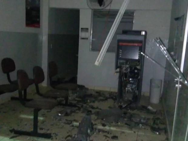 Explosão Caixa Eletrônico Xexéu (Foto: Diego Moreira/ Arquivo Pessoal )