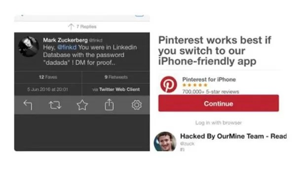 Usuário Ben Hall (https://twitter.com/Ben_Hall) postou uma foto do Pinterest de Zuckerberg. (Foto: BBC)