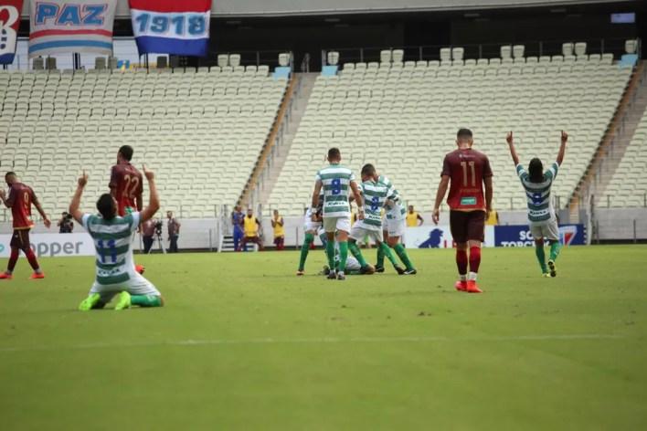 Fortaleza não conseguiu avançar de fase na Copa do Nordeste (Foto: Luís Júnior)