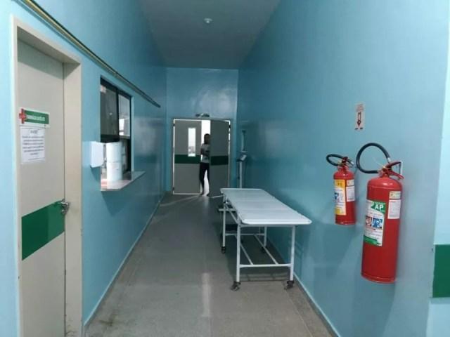 Corredor do Hospital Municipal de Areia Branca  — Foto: Prefeitura de Areia Branca/Divulgação