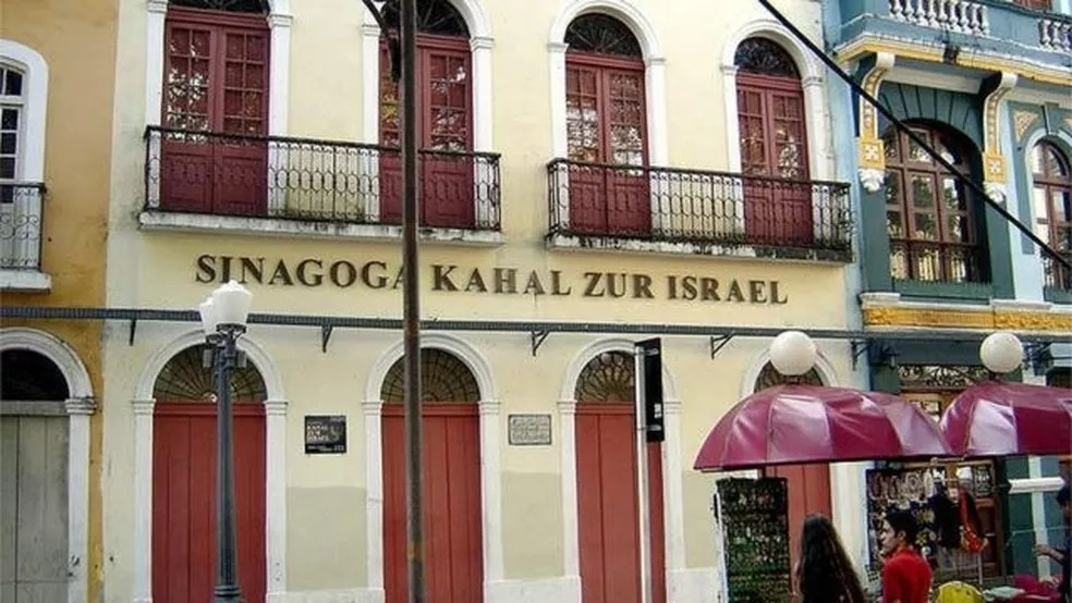 Kahal Zur Israel foi primeira sinanoga das Américas — Foto: WIKICOMMONS/BBC