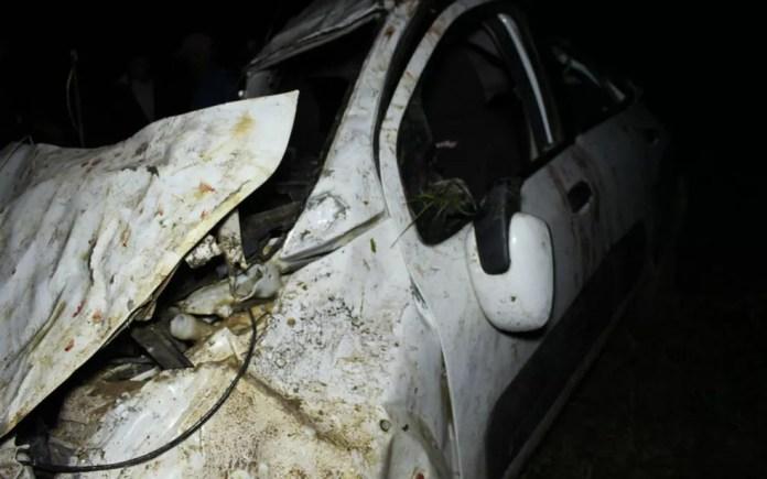 Acidente deixou um morto e três feridos (Foto: Isabelly Vitória/Site Medeiros Dia Dia)