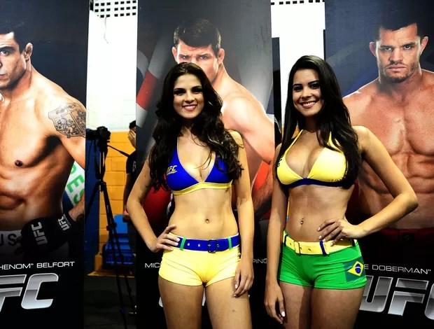 RING GIRLS BRASILEIRAS ufc brasil são paulo (Foto: Marcos Ribolli)