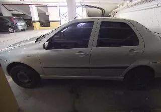 Carro roubado por adolescente foi recuperado em Praia Grande (Foto: Reprodução/TV Tribuna)