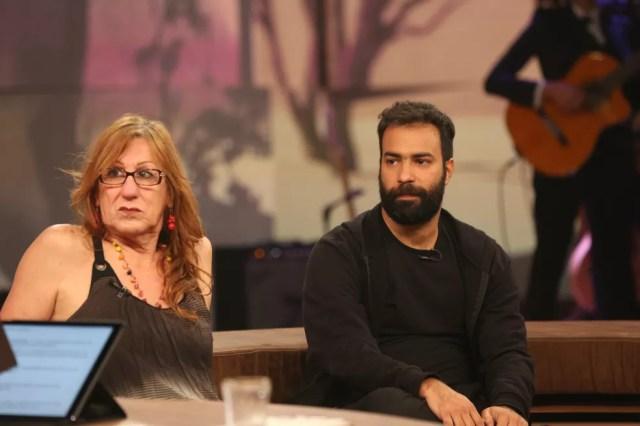 Laerte participa do programa ao lado do filho (Foto: Carol Caminha/Gshow)
