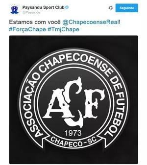Paysandu se solidariza com Chape (Foto: Reprodução: twitter oficial do Paysandu)