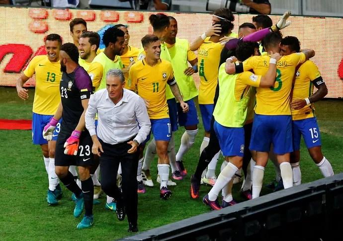 Tite Brasil x Argentina (Foto: Reuters)