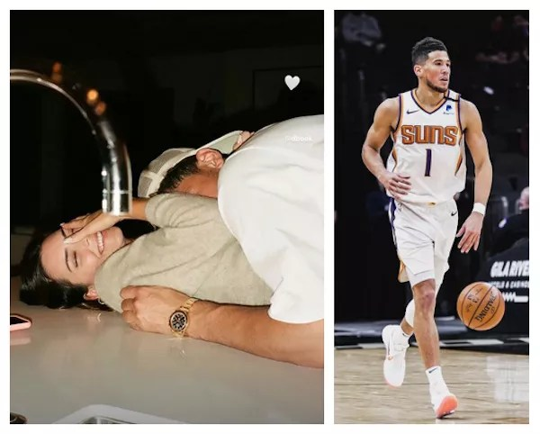 A rare photo shared by model Kendall Jenner in a romantic moment with basketball player boyfriend Devin Booker (Photo: Instagram)