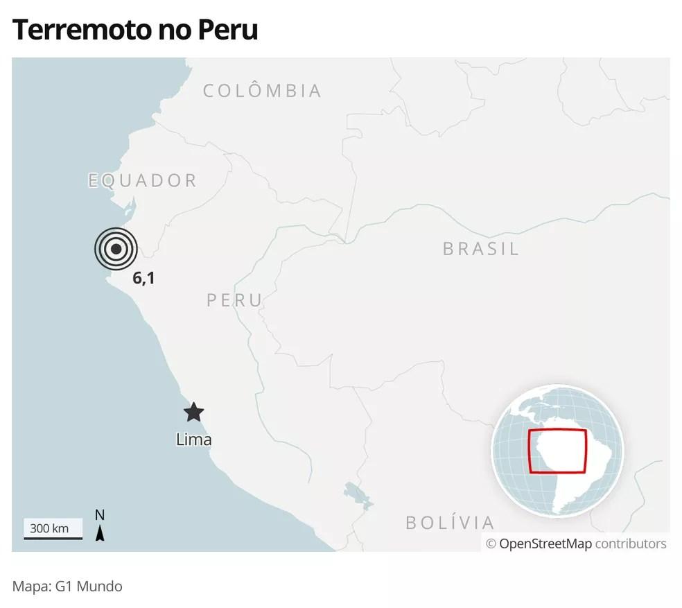 Terremoto no Peru em 30 de julho — Foto: G1
