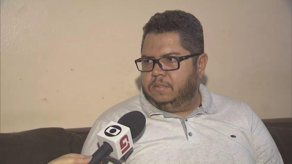 Pai do garoto vítima de maus-tratos — Foto: Reprodução/TV Globo