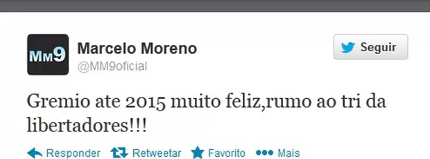 Marcelo Moreno twitter (Foto: Reprodução / Twitter)