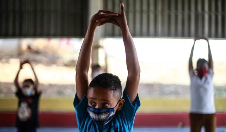 Aulas em escolas de SP durante a pandemia  — Foto: Werther Santana/Estadão Conteúdo