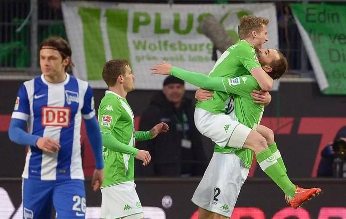 Bas Dost, gol Wolfsburg (Foto: EFE)