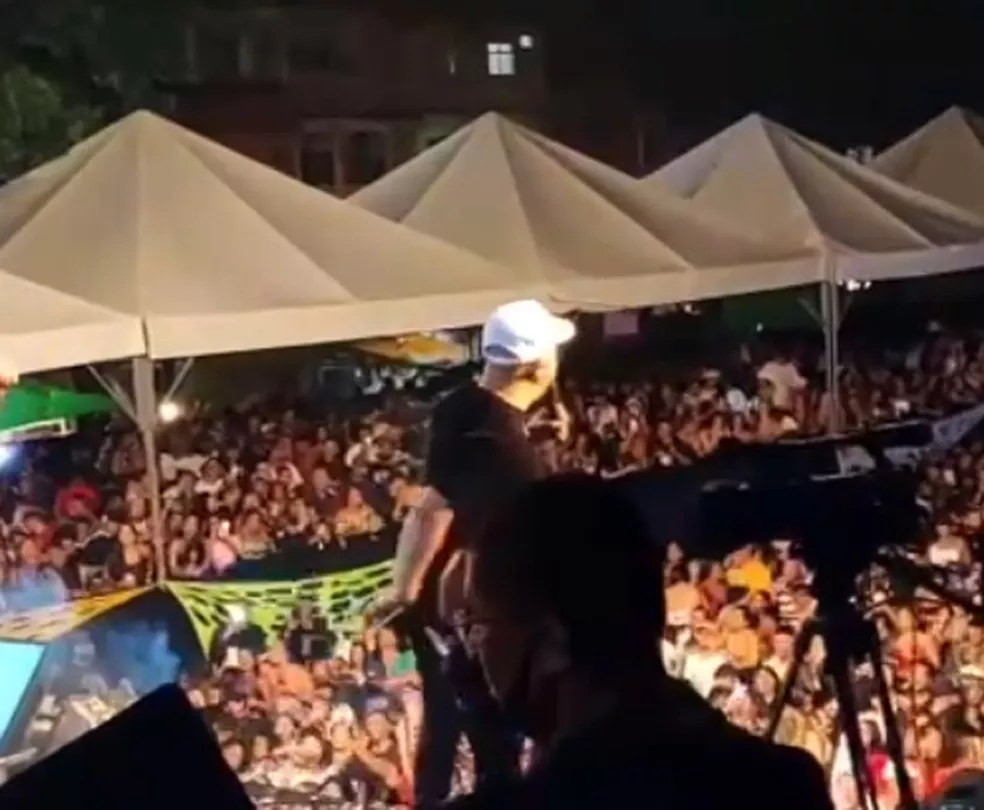 Show de Belo na Maré — Foto: Reprodução/TV Globo