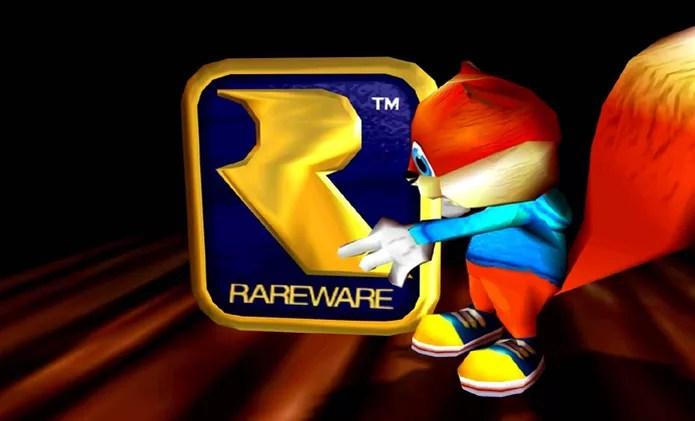 Na apresentação do game Conker's Bad Fur Day o esquilo serra o logo do Nintendo 64 e o substitui pelo da Rare (Foto: Reprodução/YouTube) (Foto: Na apresentação do game Conker's Bad Fur Day o esquilo serra o logo do Nintendo 64 e o substitui pelo da Rare (Foto: Reprodução/YouTube))