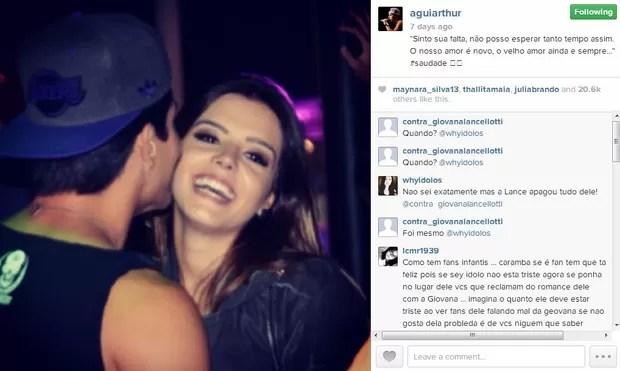 EGO - Chega ao fim o namoro de Giovanna Lancellotti e Arthur ...